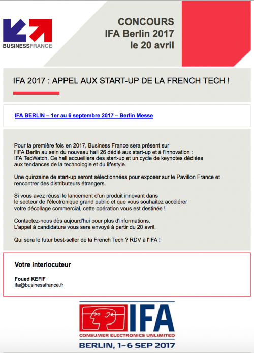Concours IFA