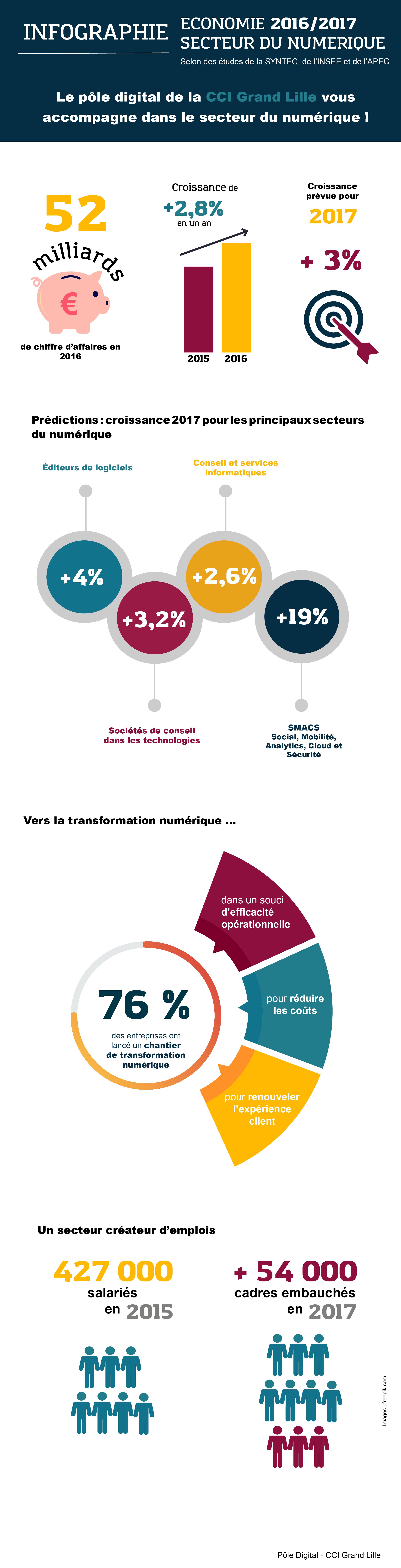 Infographie secteur du numérique