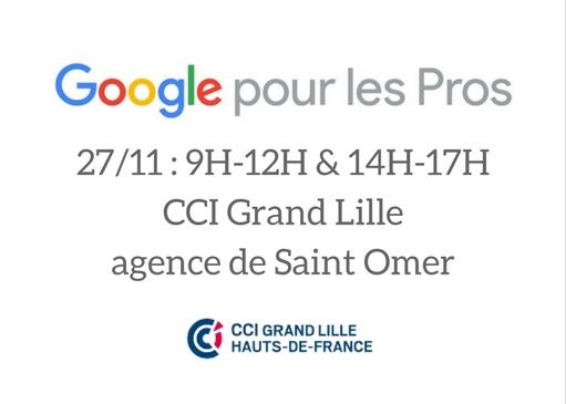 Google pour les pros : Ateliers à Saint-Omer le 27 novembre