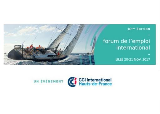 RDV au 16e forum de l'emploi international les 20 & 21 novembre à Lille