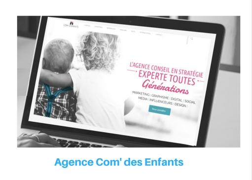 Agence Com'des enfants : l'expertise variée en communication/marketing infantile et générationnel