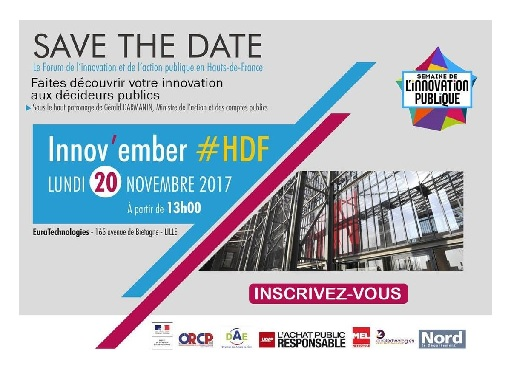 [SAVE THE DATE] Innov'ember le 20.11.17 à EuraTechnologies