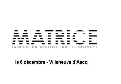 Impression 3D en construction : le projet MATRICE – 6 décembre à l'ENSAPL