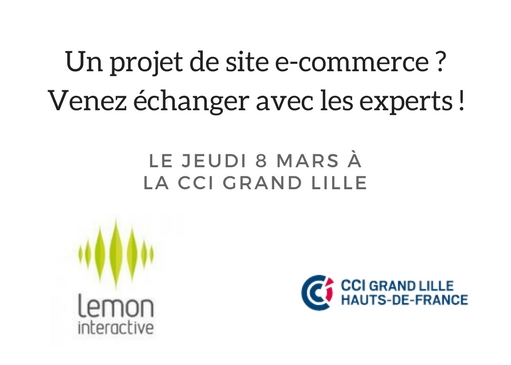 Lille – le 8 Mars / Échangez avec un expert sur votre projet de site e-commerce