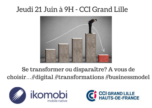 Lille / Se transformer ou disparaître? A vous de choisir…#digital #transformations #businessmodel