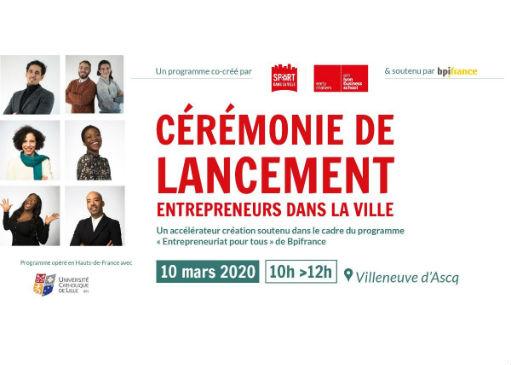 Lancement Entrepreneurs dans la Ville 2020
