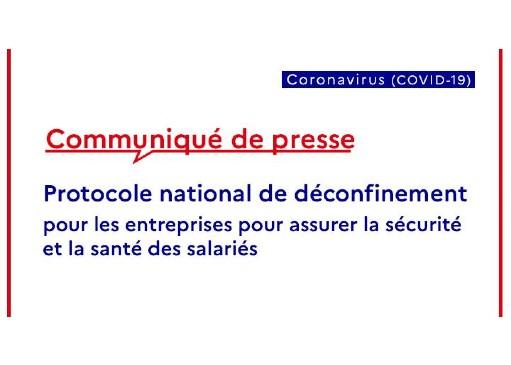 Protocole national de déconfinement pour les entreprises…